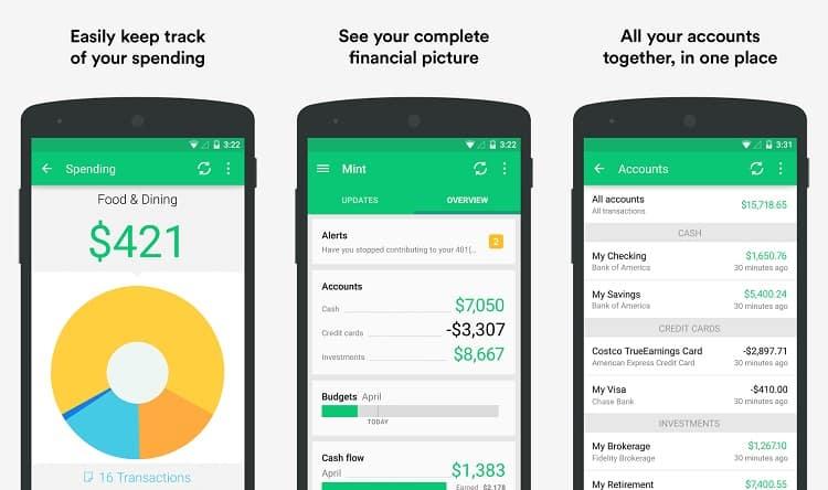 Mint Finance App