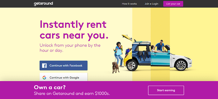 getaround car renting
