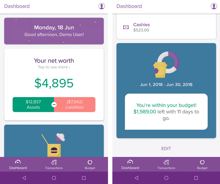 PocketSmith mobile app